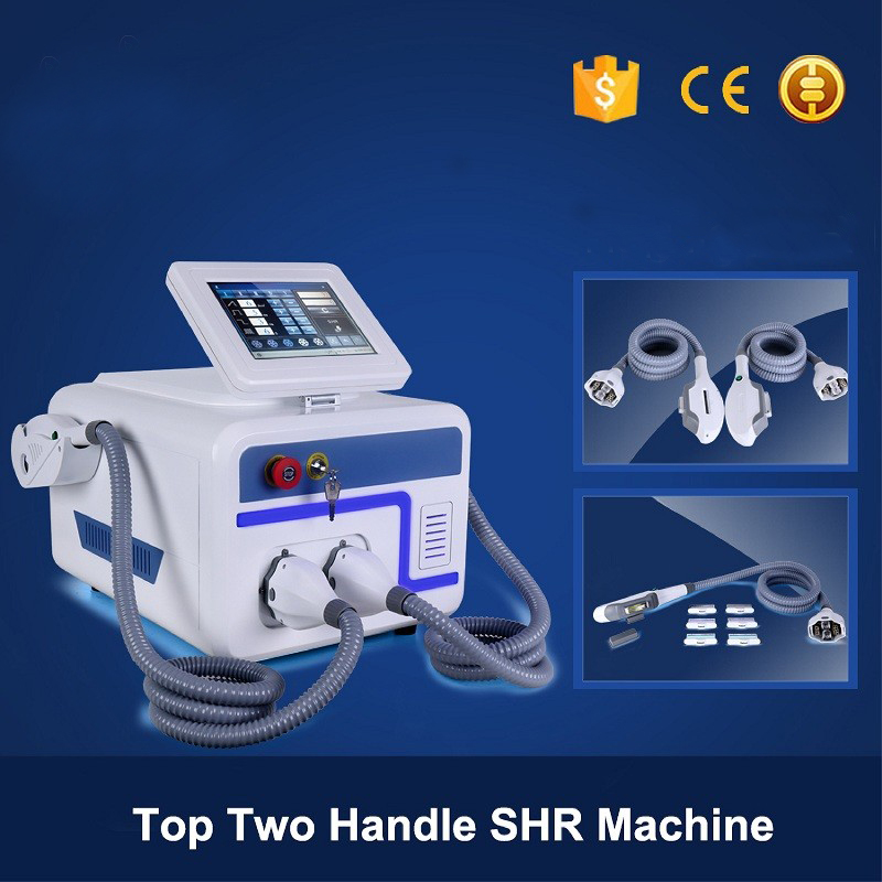 2 handles SHR E-light Hair Removal Laser Machine